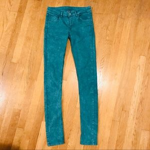 🍁 Turquoise Divided Skinny Jeans
